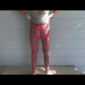 flannel PINK victoria secret sleepwear pants